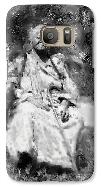 Galaxy Case featuring the drawing Former Slave Woman by Vannetta Ferguson