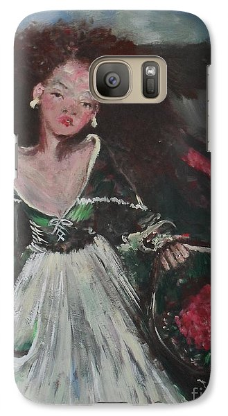 Galaxy Case featuring the painting Free by Laurie L