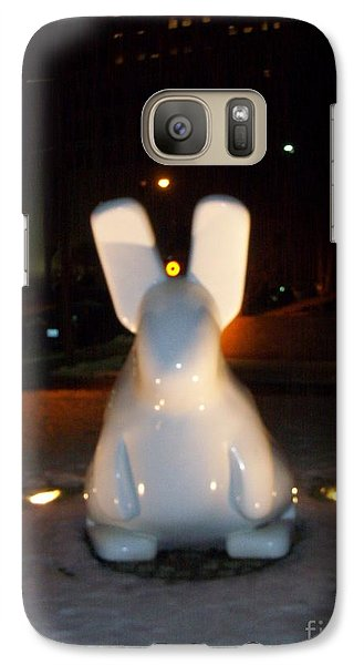 Galaxy Case featuring the photograph Funny Killer Bunny by Kelly Awad