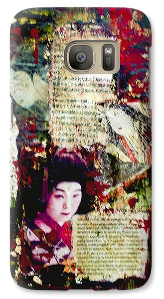 Galaxy Case featuring the painting Geisha by Debra Crank