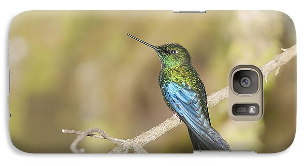 Galaxy Case featuring the photograph Great Sapphirewing Hummingbird by Dan Suzio