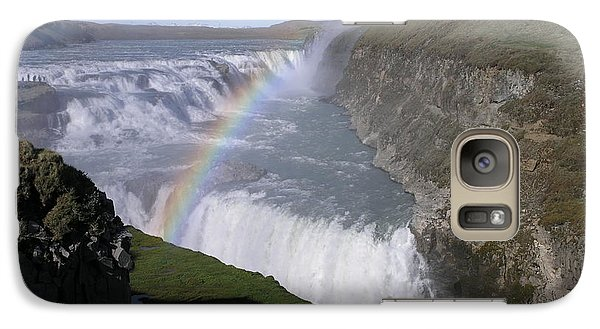 Galaxy Case featuring the photograph Gullfoss by Christian Zesewitz