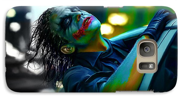 Heath Ledger Galaxy S7 Case by Marvin Blaine