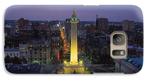 High Angle View Of A Monument Galaxy S7 Case by Panoramic Images