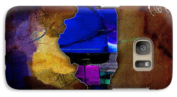 Illinois Map Watercolor Galaxy Case by Marvin Blaine
