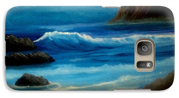 Galaxy Case featuring the painting Illuminated by Holly Martinson