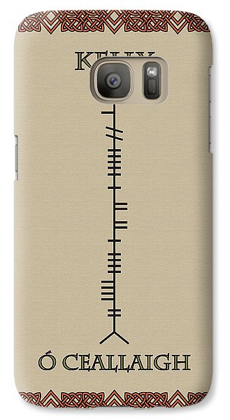 Galaxy Case featuring the digital art Kelly Written In Ogham by Ireland Calling