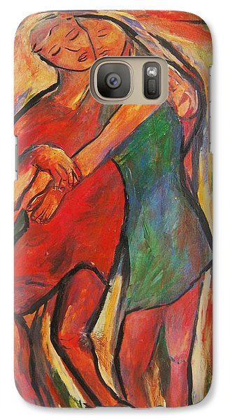 Galaxy Case featuring the painting Lean by Dawn Fisher