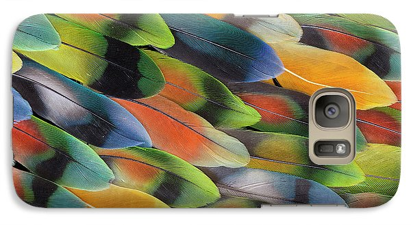 Lovebird Tail Feather Pattern And Design Galaxy S7 Case