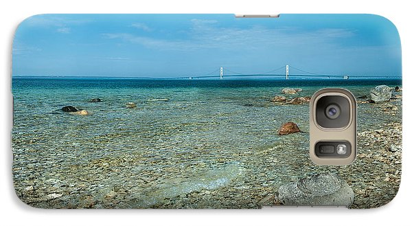 Galaxy Case featuring the photograph Mackinac Bridge by Larry Carr