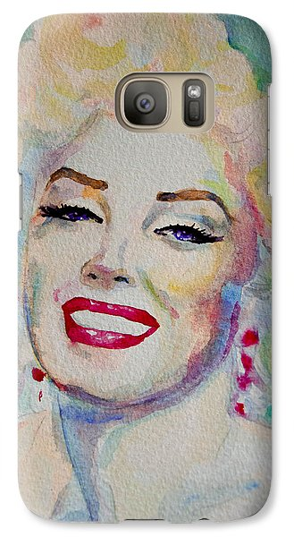 Galaxy Case featuring the painting Marilyn by Laur Iduc