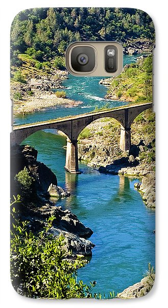 Galaxy Case featuring the photograph No Hands Bridge by Sherri Meyer