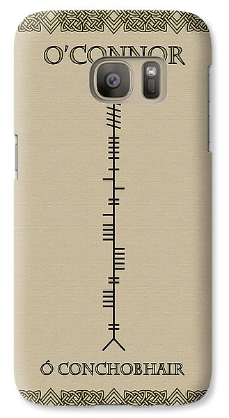Galaxy Case featuring the digital art O'connor Written In Ogham by Ireland Calling