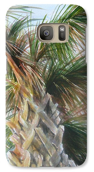 Galaxy Case featuring the painting Palmetto 2011 by Gloria Turner