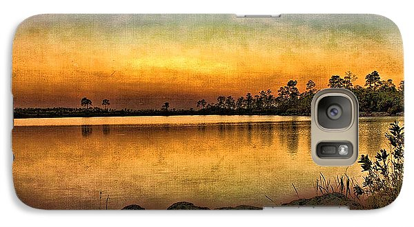 Galaxy Case featuring the photograph Pine Glades Lake by Anne Rodkin