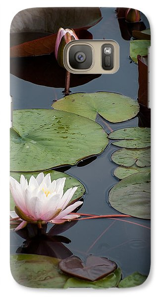 Galaxy Case featuring the photograph Pink Water Lily by Wayne Meyer