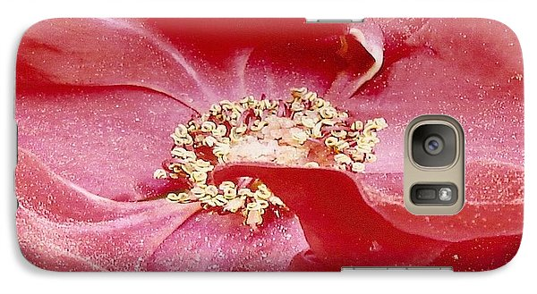 Galaxy Case featuring the photograph Pollen Covered Altissimo Rose by June Holwell