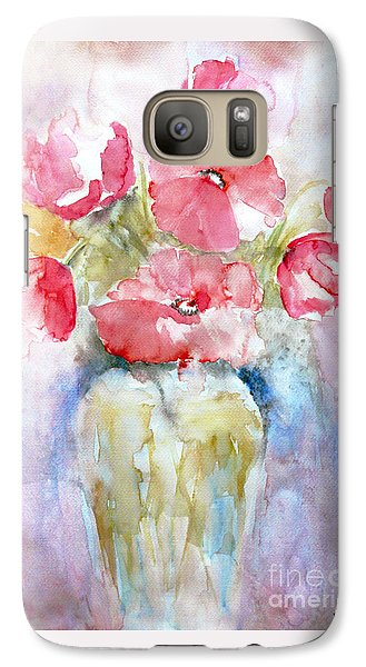 Galaxy Case featuring the painting Poppies by Jasna Dragun