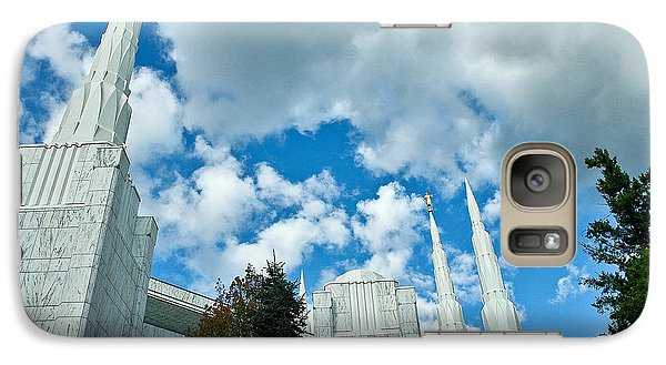 Galaxy Case featuring the photograph Portland Oregon Lds Temple by Nick  Boren