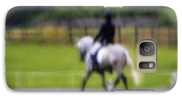 Galaxy Case featuring the photograph Rainy Day Dressage by Joan Davis