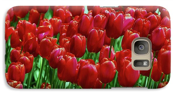 Galaxy Case featuring the photograph Red Tulips  by Allen Beatty