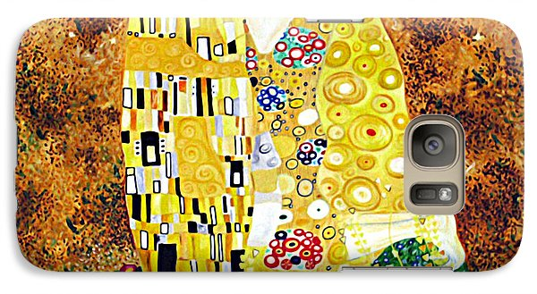 Galaxy Case featuring the painting Reproduction Of - The Kiss By Gustav Klimt by Ze  Di