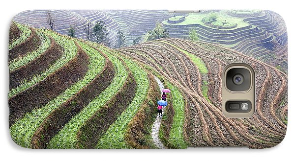 Rice Terraces Galaxy Case by King Wu