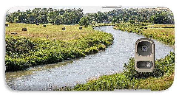 River In The Nebraska Sandhills Galaxy Case by Jim West