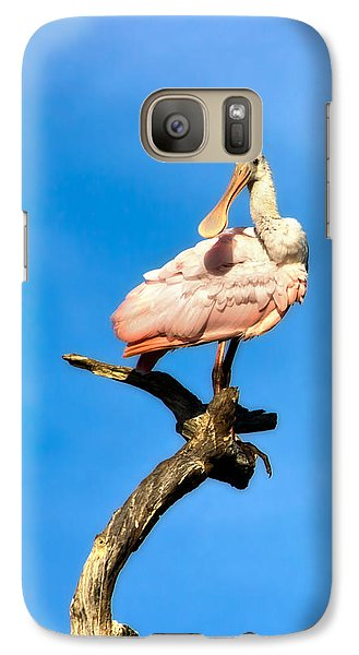Roseate Spoonbill Galaxy S7 Case by Mark Andrew Thomas