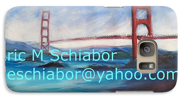 Galaxy Case featuring the painting San Francisco Golden Gate Bridge by Eric  Schiabor