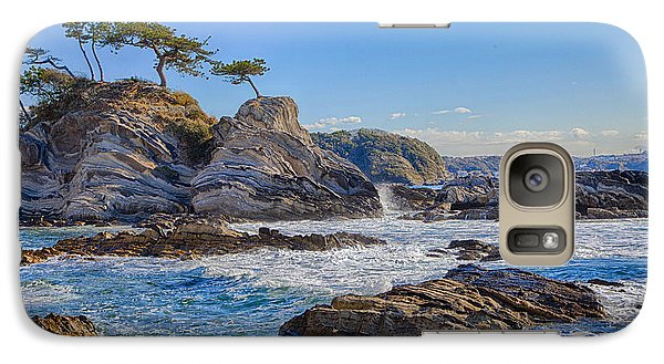 Galaxy Case featuring the photograph Sea Side by Tad Kanazaki