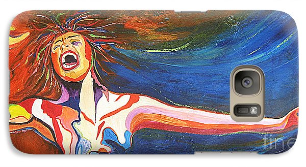 Galaxy Case featuring the painting Shout by Diana Bursztein