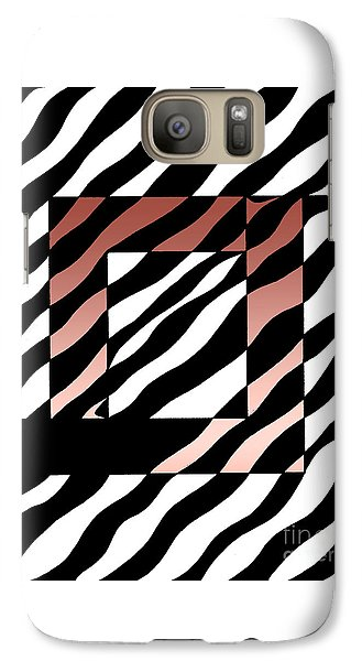Galaxy Case featuring the drawing 3 Squares With Ripples by Joseph J Stevens