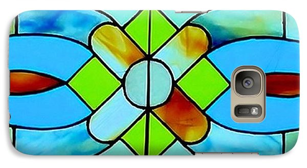 Galaxy Case featuring the photograph Stained Glass Window by Janette Boyd