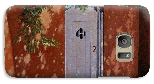 Galaxy Case featuring the painting The Garden Gate by Gene Gregory