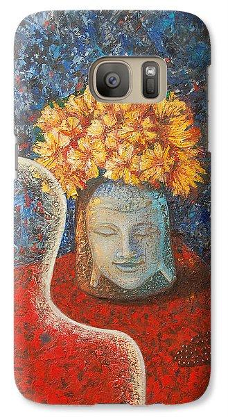Galaxy Case featuring the painting Tibetan Prayers by Mini Arora