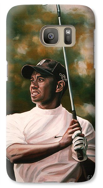 Tiger Woods  Galaxy Case by Paul Meijering