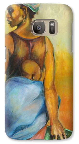 Galaxy Case featuring the painting Wash Day by Daun Soden-Greene