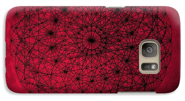 Galaxy Case featuring the drawing Wave Particle Duality by Jason Padgett