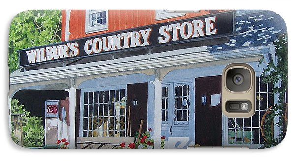 Galaxy Case featuring the mixed media Wilbur's Country Store by Constance Drescher