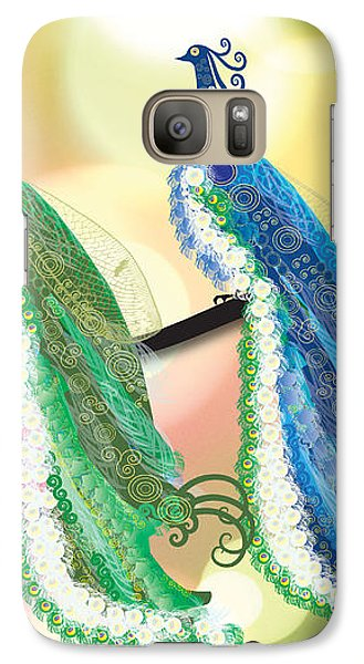 Galaxy Case featuring the digital art Visionary Peacocks by Kim Prowse