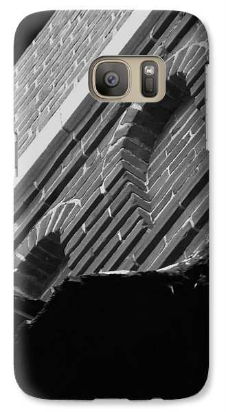 Galaxy Case featuring the photograph 3rd Little Pig Bw by Elizabeth Sullivan