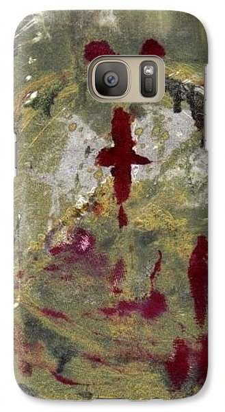 Galaxy Case featuring the painting 3rd Peace by Lesley Fletcher