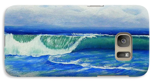 Galaxy Case featuring the painting A Wave To Catch by Shelia Kempf