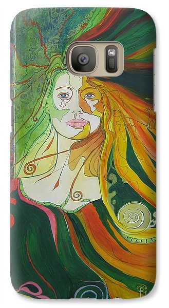 Galaxy Case featuring the painting Alter Ego by Diana Bursztein
