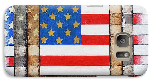 Galaxy Case featuring the painting American Flag by Steve  Hester