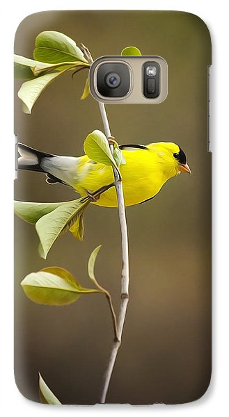 Finch Galaxy S7 Case - American Goldfinch by Christina Rollo