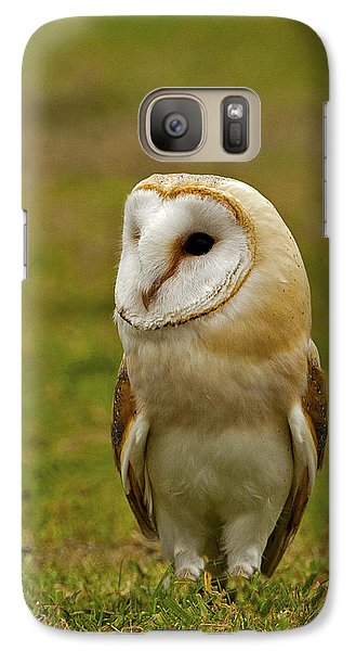 Galaxy Case featuring the photograph Barn Owl by Paul Scoullar