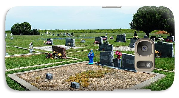 Galaxy Case featuring the photograph Bomarton Catholic Cemetery 4 by The GYPSY And DEBBIE