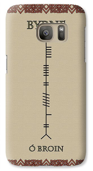 Galaxy Case featuring the digital art Byrne Written In Ogham by Ireland Calling